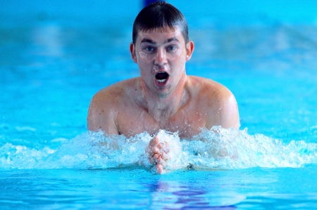 waterpool: Swimmer swimming in the waterpool