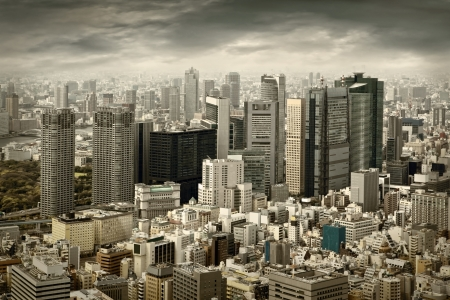 City view of skyscarpers Stock Photo - 17236110
