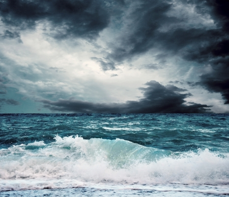 storm sea: View of storm seascape Stock Photo