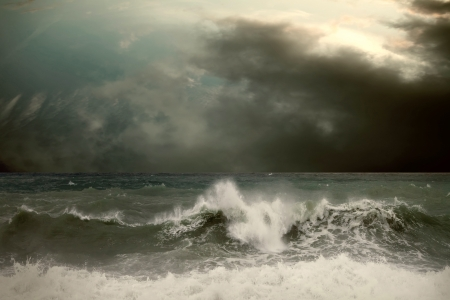 View of storm seascape Stock Photo - 17341746