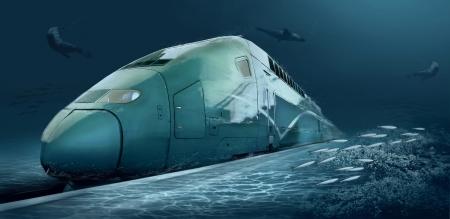 Motions train in underwater ocean life Stock Photo - 19382840
