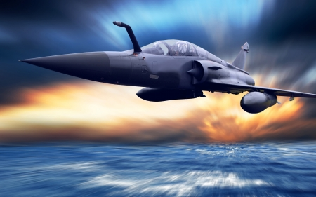 fighter pilot: Military airplan on the speed
