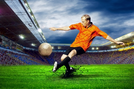 Football player on field of stadium Stock Photo - 20680300
