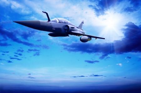 avion de chasse: Airplan militaire sur la vitesse