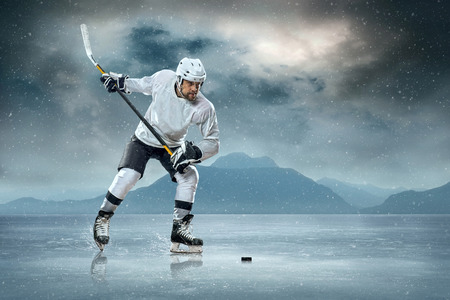 fitness goal: Ice hockey player on the ice