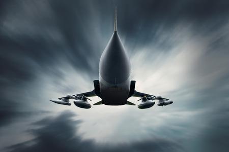 avion de chasse: Avion militaire au volant de la vitesse Banque d'images