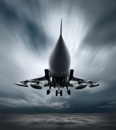 속도에 비행에 군사 비행기