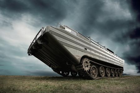 no war: Military tank under sky