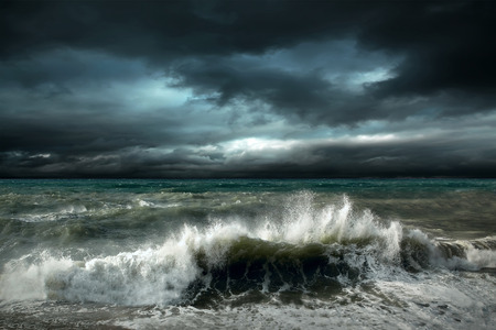 with ocean: View of storm seascape Stock Photo