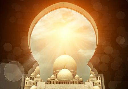 アラブ首長国連邦のシェイク ・ ザーイド ・ モスク。 報道画像
