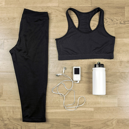 sport clothes: Beautiful sport set for running. Stock Photo