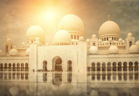 アラブ首長国連邦のシェイク ・ ザーイド ・ モスク。 写真素材