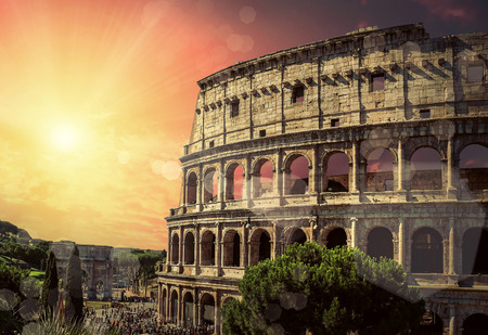 One of the most popular travel place in world - Roman Coliseum. Reklamní fotografie - 44532351