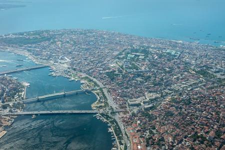 waft: Turkey, Istanbul panorama of the Bosphorus Strait