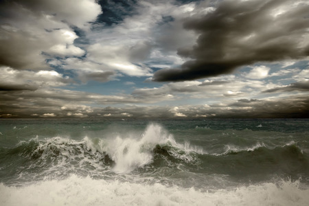 storm: View of storm seascape Stock Photo