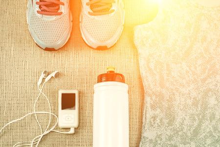 aparatos electricos: Hermoso deporte fijó para correr.