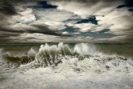 seascape: View of storm seascape Stock Photo