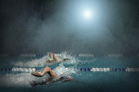 waterpool: Swimmers in waterpool