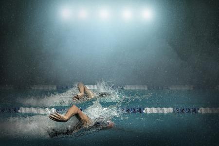 waterpool: Swimmer in waterpool