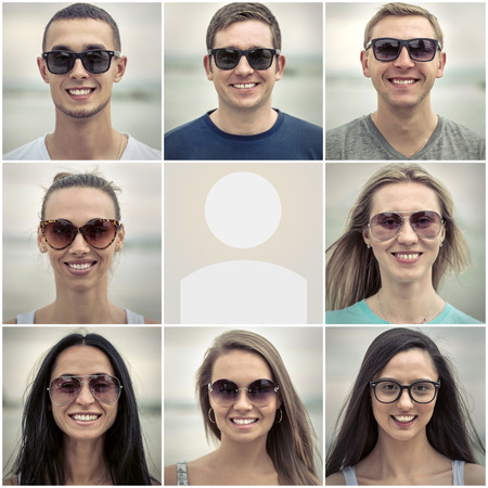 glasses eye: Close-up portrait Stock Photo