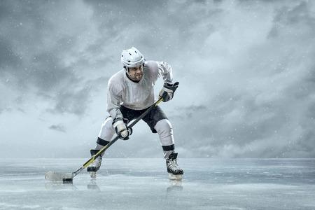 sportsmanship: Ice hockey players on the ice Stock Photo
