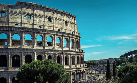 roman: One of the most popular travel place in world - Roman Coliseum.