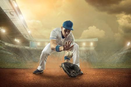 アクション スタジアムでの野球選手。