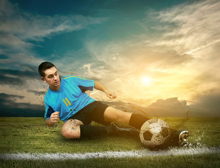 Soccer players on the field