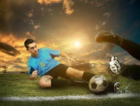 フィールド上の選手 写真素材
