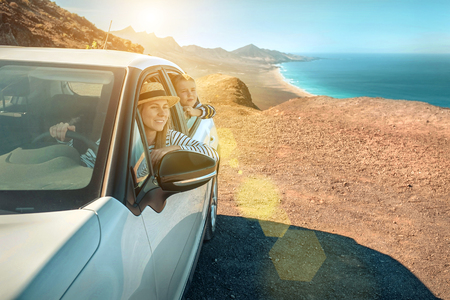 Ocean coastline view. Freedom, Family, Travel, Journey, Trip, Shooting concept. Reklamní fotografie