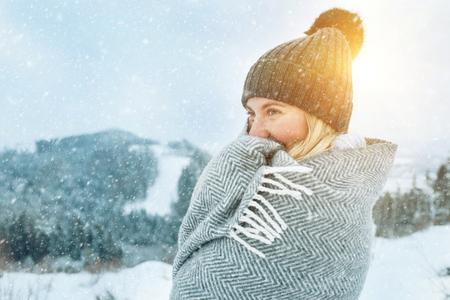 Happy woman traveler Freedom, Holidays concept.