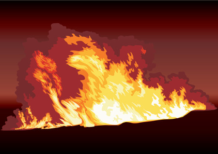 The image of a strong fire with tongues of a flame.