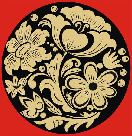 folk culture: Patr�n de estilo hohloma la creatividad nacional