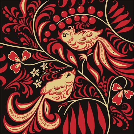 Naadloze patroon in de Russische traditionele stijl.