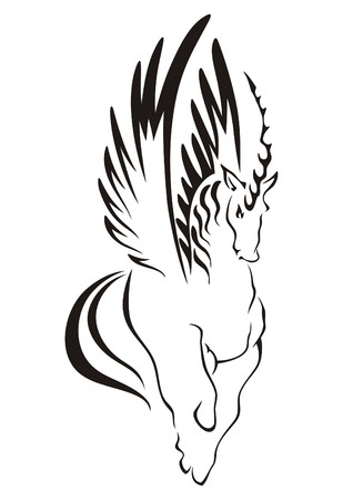 goat head: Vector symbol of the Unicorn