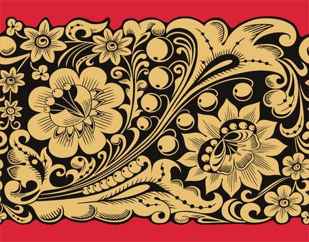 伝統的なスタイルでシームレスなストリップ パターン。
