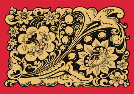 Pattern in Russian national traditional style.