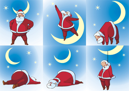 man in the moon: Comic pictures with Christmas subjects.
