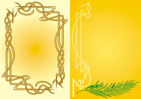 Two variants of the frame design Stock Vector - 4093271