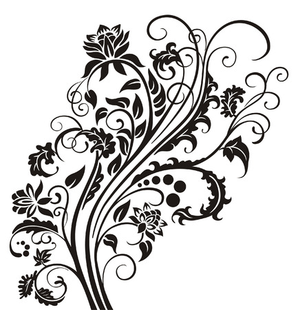 Vector pattern with vegetable motive.