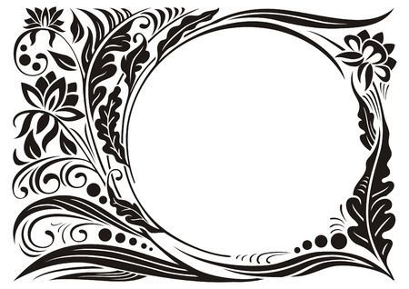 Vegetable pattern with frame for any image.