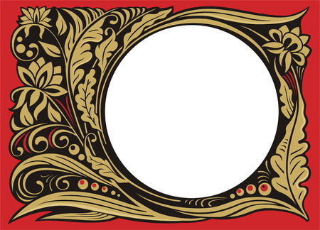 curlicue: Vegetable pattern with frame for any image.