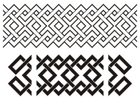 circles vector: Geometrical seamless pattern Illustration