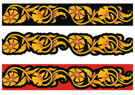 Seamless tape with floral pattern