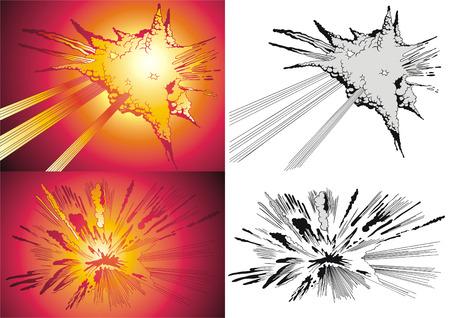 Vector variants of the blast in style comics. Stock Vector - 4732583