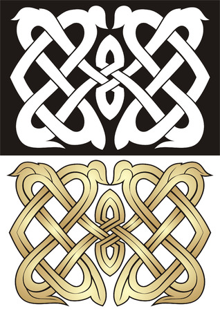 Two vector variants of the pattern in old style. 向量圖像