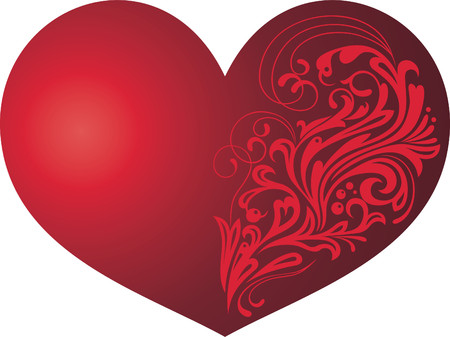 Heart with a pattern, a card at date of Valentine Stock Vector - 4830328