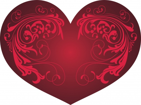 Heart with a pattern, a card at date of Valentine Stock Vector - 4830329