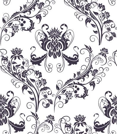 Seamless vegetative pattern for use a design element. Vector