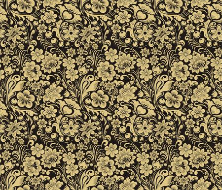 Vector naadloze patroon in traditionele Russische stijl. Ontwerp element. Vector Illustratie